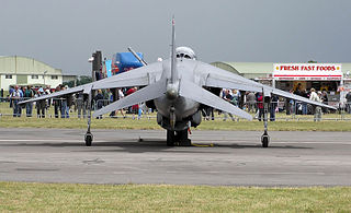 The anhedral wing of a Harrier jump jet